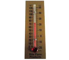 RITE FARM PRODUCTS GLASS TEMPERATURE THERMOMETER EGG INCUBATORS CHICKENS POULTRY