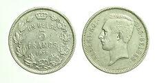 pcc1665_20) UN BELGA BELGIO 5 FRANCS 1931 RE ALBERTO I