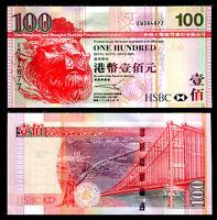 HONG KONG 100 DOLLARS HSBC 2003 P 209 UNC