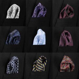 Men Pocket Squares Handkerchief Business Suit Hanky Male Fashion Handkerchiefs