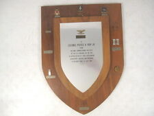 US Army Commander's Wall  Plaque - Col. Pierce B. Irby Jr. - WWII Korea Vietnam