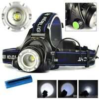 LE LED Headlamp head torch Helmet light,battery included,rechargeable lamp,black