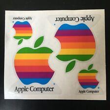 Vintage APPLE Computer RAINBOW Stickers