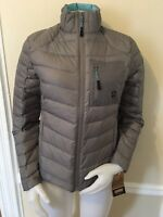 Khombu Zenon Down Jacket Puffer Coat Women's Outerwear Gray S , M , L  $149 NWT
