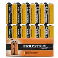 10 x Duracell Industrial 9V Alkaline battery LR22 BLOCK MN1604 6LR61 6LP3146