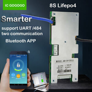 8S 24V Lifepo4 Lithium Battery Protection Board BMS Bluetooth APP UART Computer