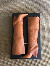 Gorgeous Saint Laurent Runway Tall Knee Niki Cognac Leather Boots, Size 39