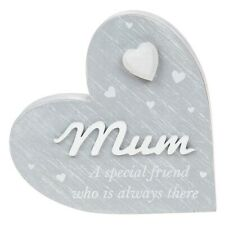 Mum a Special Friend Who Is Always There Heart Block Plaque Ornament