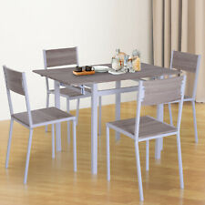 5 Piece Drop Leaf Counter Height Table and Chairs Dining Set