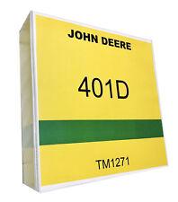 401D John Deere Tractor Backhoe Technical Service Repair Manual 1405 pages 401 D