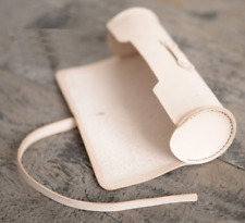 women Cosmetic storage bag Makeup box case pencil pen cow Leather white z636