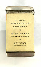 Celluloid Match Safe Advertising Rothschild Company Cigars Philadelphia