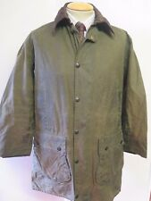 """Barbour A200 Border Waxed jacket - M 38"""" Euro 48 in Green"""