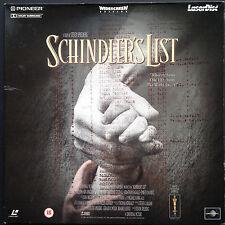 SCHINDLER'S LIST Rare Laserdisc Cover-Sleeve Spielberg Liam Neeson Ralph Fiennes