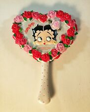 Betty Boop Bed of Roses Sculpted Resin Hand Mirror