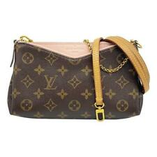 Louis Vuitton Pallas Clutch Rose Poudre Pink Monogram Canvas Shoulder Bag