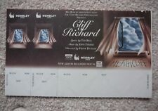 CLIFF RICHARD unused ticket for cancelled Wembley Heathcliffe show, 1994
