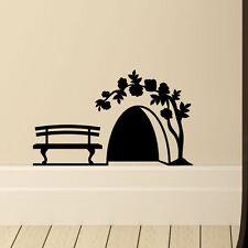 Mouse foro con rose Muro in Vinile Decalcomania HOME DIE CUT Decor Adesivo Decorazione