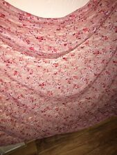 1M Designer Lycra Stretch Floral PEACH PINK RED Lace Fabric 60 Inch Wide