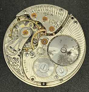 South Bend Grade 215 Pocket Watch Movement Openface 16s 17j Parts Repair F5562