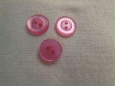 NEW 25 PC BAG PINK PEARL FINISH 5/8 INCH BUTTON