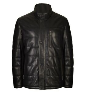 Trapper Quilted Nappa Leather Jacket BEN 182 Black RRP £499.00