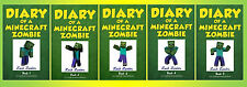 DIARY OF A MINECRAFT ZOMBIE Paperback Children's Series Collection Books 1-5!