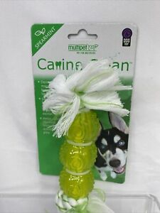 Multipet Canine Clean Rope 3 TPR Balls Spearmint Chew Dogs Toys Tartar Dental