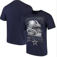 Dallas Cowboys FIERCE HELMET Short Sleeve NFL T-Shirt - Navy