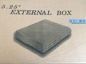"""5.25"""" USB 2.0 External Enclosure Box Converts Internal Computer IDE Devices, NIB"""