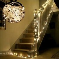 White 10M 100LED Fairy String Light Lamp DIY Christmas Wedding Xmas Party Decor