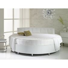 Verve 6FT6 Round Bed With Pearl Dimante Headboard 200cm Various Colours Fabrics
