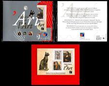 Bloc sous Blister CHEFS D'ŒUVRE DE L'ART, Neuf ** = Cote 50 € / Timbres France