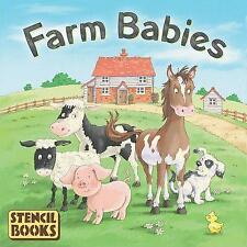 *FARM BABIES*  Board Storybook with lift-out Stencils NEW