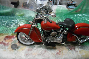 GUILOY 1948 Indian Chief Motorcycle 1:6 Scale Bike Collection NO BOX LOT 0 0 0