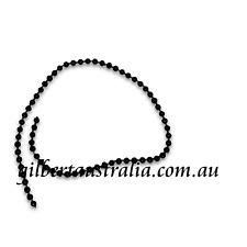 BLACK GLOSS 3mm 5 mtr Wedding Bridal Cake Decorat'n Pearls Fused Beads on String
