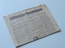 ALTE KÖLNISCHE RUNDSCHAU NR.3 JAHRGANG 1 DIENSTAG 26.03.1946