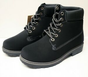 ladies girls winter boots fur lined black size 3 walking casual gift