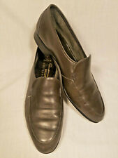 Bally Shoes Continentals Mason 01 Loafers Slip On US Mens Size 9EEE Gray Leather