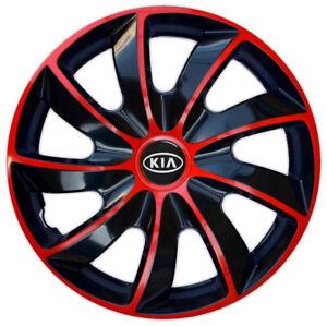 "14"" Wheel trims wheel covers fit KIA Picanto Rio Cee'd 14 inches red black"
