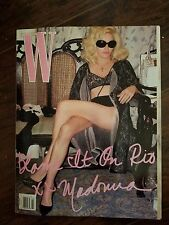 W Magazine Madonna March 2009 Material Things Brand New In Plastic