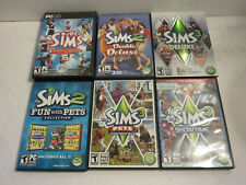 SIMS 1 2 3 DELUXE PETS SHOWTIME EXPANSIONS GREAT COLLECTION LOT PC WIN MAC DVD