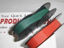 New Antique Royal Portable Typewriter Ribbon Ink -  Red and Green Ribbon Pack