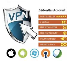 Powerful VPN Services 6 Months Subscription ⚡️ For 3 Devices ⚡️ 5 Countries