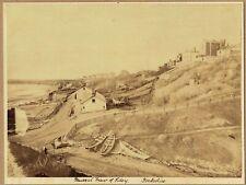 Sea front,  Filey, Yorkshire. Superb original 1880s Albumen Photograph