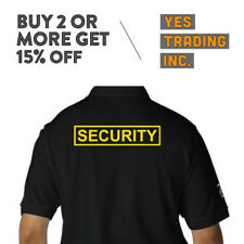 MENS SECURITY POLO SHIRT LAW ENFORMENT POLICE SHIRTS SAFETY WORK UNIFORM GUARD