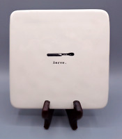Rae Dunn SERVE White Ivory Hot Plate Board Tray Trivet Artisan Collection