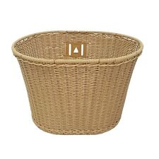 Plastic Wicker Look Front BIke Storage Carry Bicycle Retro Basket