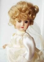 ANTIQUE REPRODUCTION FRENCH  MILLETTE A.T. SILVER 10 in FULL PORCELAIN DOLL NEW