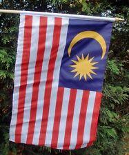 "MALAYSIA LARGE HANDWAVING FLAG 18"" X 12"" with 24"" wooden pole flags Kuala Lumpur"